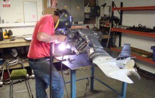 Outboard motor welding